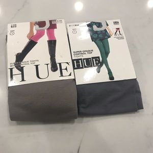 Hue super opaque control top tights size 1